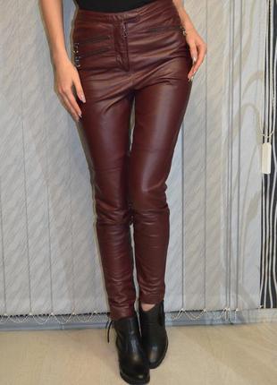 Кожаные штаны с высокой посадкой asos