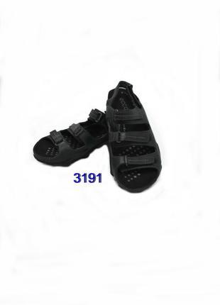 Натуральная кожа,женские черные   кожаные  босоножки ecco 3191
