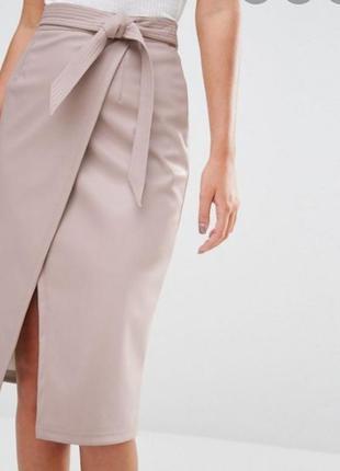 Треодовая юбка на запах из кожзама