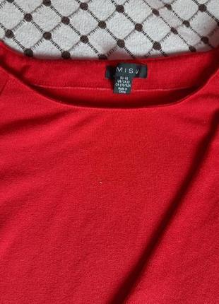 Ярко красное платье - туника от amisu