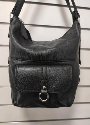 Итальянская кожаная сумка-рюкзак