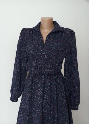 Плаття сукня вінтаж винтаж платье в точки принт в горох