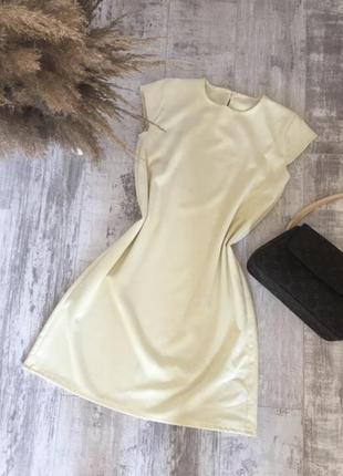 Светло-лимонное платье 🍋 ручной работы