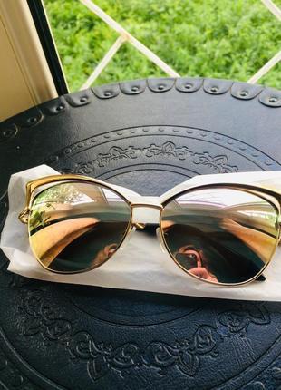 Женские дизайнерские очки в стиле бренда louis vuitton, кошачий глаз розовое золото