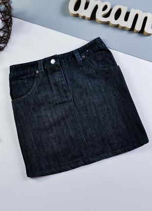 Джинсовая юбка на 10 лет/140 см