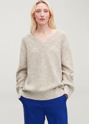 Объемный хлопковый свитер cos