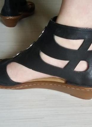 Кожаные босоножки rieker 40-41р сандалии сандали
