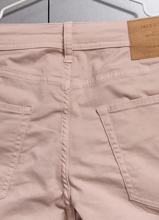 Jack & jones пудровые джинсы размер 33