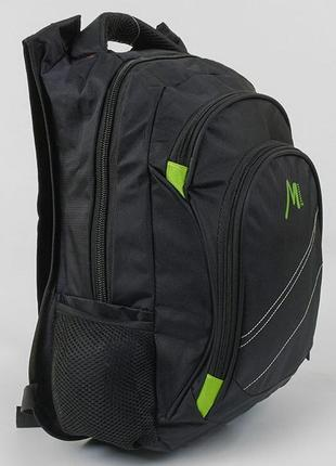 Школьный рюкзак для мальчиков черный с зелёным mzhihui 3421-30