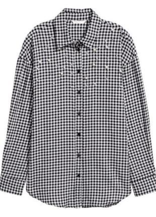 Рубашка в клетку с бусинами от h&m