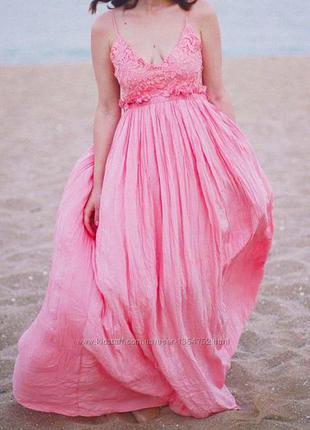 Сарафан платье розовое