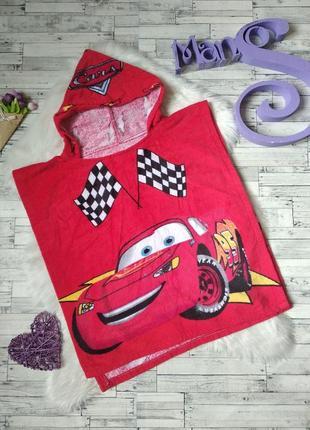 Детское полотенце пончо с капюшоном тачки