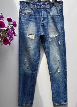 Чоловічі джинси на ґудзиках jack & jones розмір  наш 48 ( у-45)