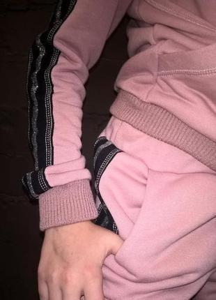 Модный спортивный костюм для девочки розовый7 фото