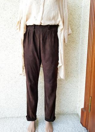 Брюки,штаны,чиносы высокая посадка натуральный замш