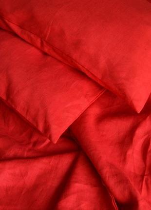 Льняное постельное белье 100% лен, разные цвета, полуторный, евро, двухспальный размер,