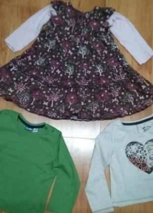 Платье и 2 кофточки на девочку 1-2 годика