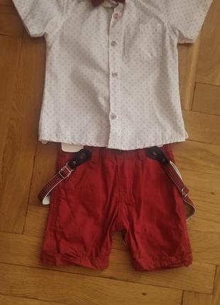 Костюм для хлопчика, дитячий костюм, дитячі шорти, сорочка для хлопчика