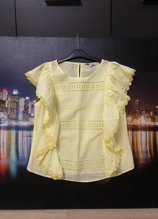 Хлопковая блузка шитье f&f, новая!