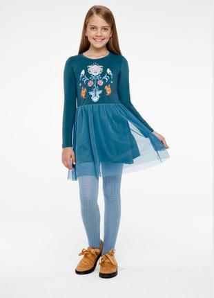 Фаберлик .трикотажное платье для девочки, цвет «темная лазурь»