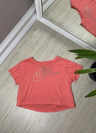 Nike найк женская кроп футболка кофта майка оригинал розовая спорт фитнес