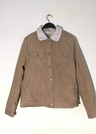 Куртка вельветовая шерпа denim co