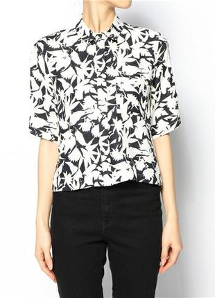 Блуза topshop print abstract blouse