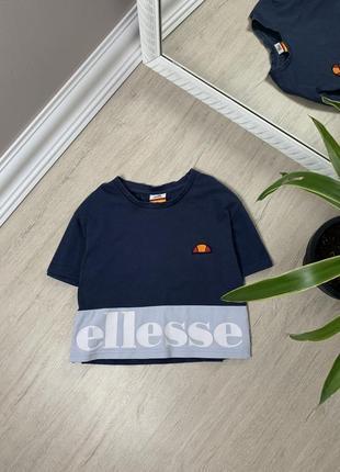 Ellesse элис женская футболка кофта майка оригинал синяя спорт фитнес