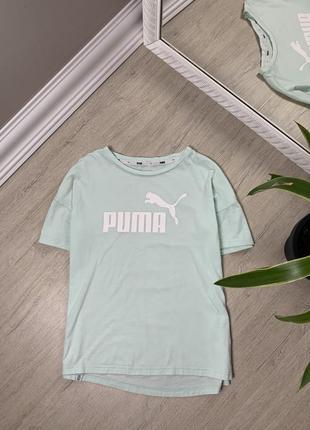 Puma пума женская футболка кофта майка оригинал мятная спорт фитнес