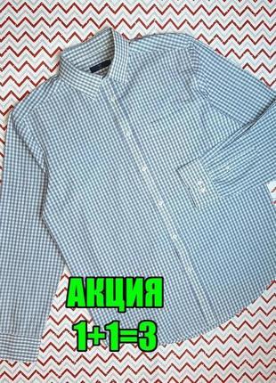 😉1+1=3 белая мужская рубашка сорочка с длинным рукавом в клетку tu, размер 52 - 54