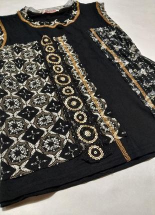 Блуза майка вискоза черная блузка большой размер