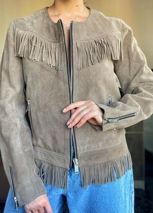 Кожаная куртка, косуха от mango