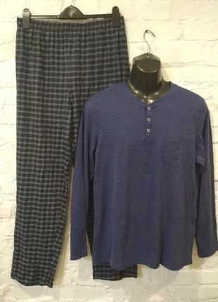 Хлопковый новый домашний костюм комплект пижама livergy,  р. м/48-50