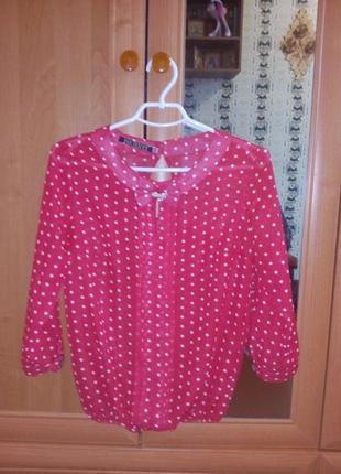 Супер блузка в горошек