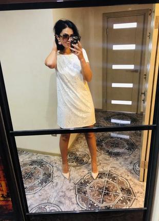 Ніжне біле плаття бренд street one 38/40 розмір ціна 329 грн