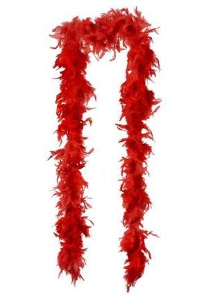Боа из перьев красное длина 200 см