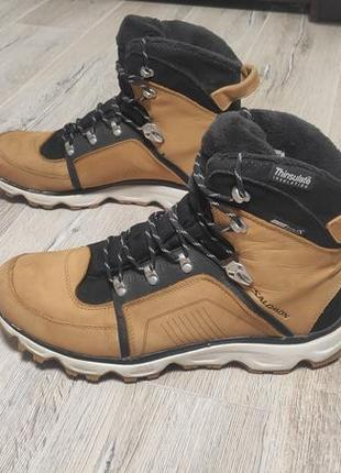 Ботинки salomon thinsulate,clima shield, waterproof