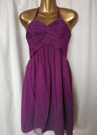 Нарядное коктейльное платье лавандового цвета