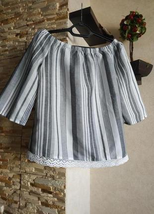 Натуральная льняная блуза