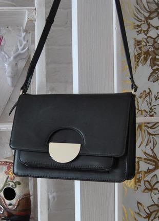 Кожаная сумка кроссбоди autograph каркасная / шкіряна сумка
