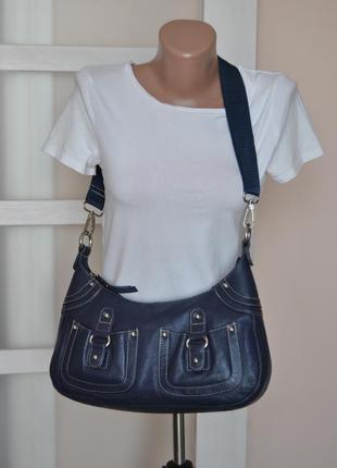 Кожаная сумка кроссбоди john lewis / шкіряна сумка