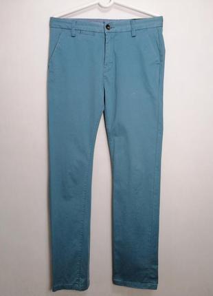 Повседневные брюки mills brothers хлопковые мужские чиносы светло-синего цвета m