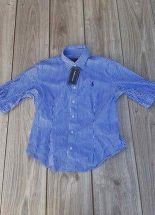 Стильная актуальная рубашка polo ralph lauren тренд полосатая в полоску