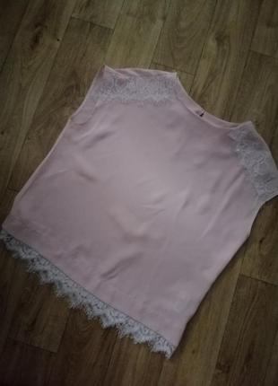 Шифоновая блуза персикового цвета