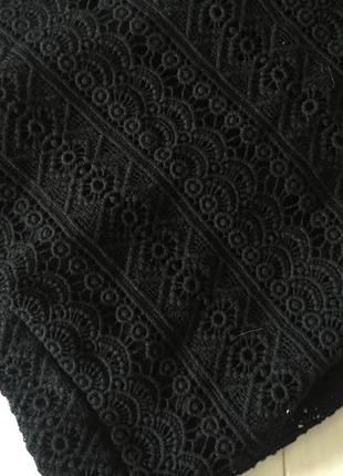 Юбка чёрная кружево карандаш миди