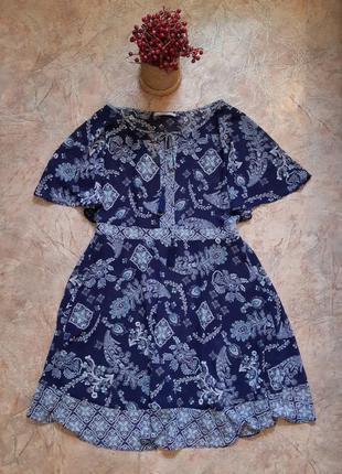 Легкое шифоновое платье миди с принтом, пляжное george