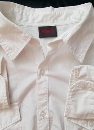 Брендовая топовая базовая белая рубашка esprit l xl