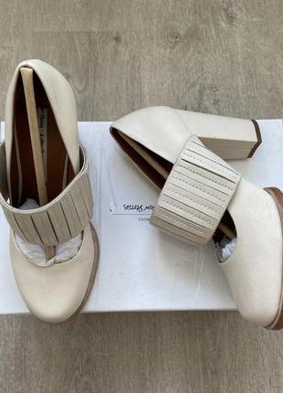 Кожаные стильные туфли