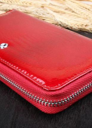 Женский кожаный кошелёк на молнии balisa красный в103-5702