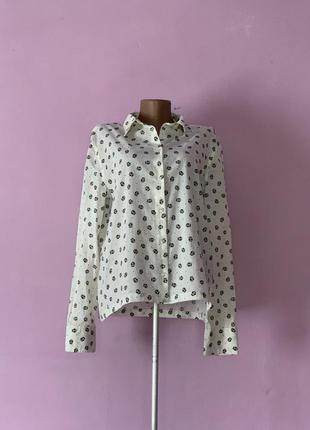 Стильная рубашка блуза с совами совушками совы 🦉 белая